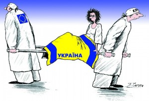 Ukraine between EU and Russia